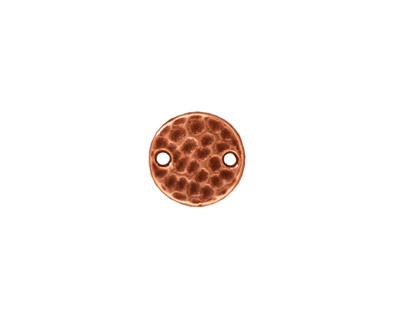 TierraCast Antique Copper (plated) Hammertone Round Link 11mm