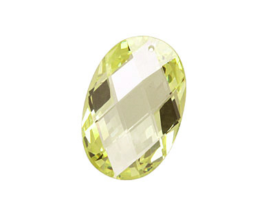 Lemon Ice Faceted Oval 20x30mm