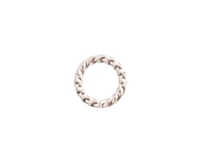 Nunn Design Sterling Silver (plated) Large Rope Jump Ring 12mm
