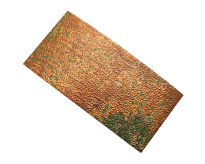 Lillypilly Verde Flower Garden Embossed Patina Copper Sheet 3