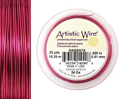 Artistic Wire Magenta 24 gauge, 10 yards