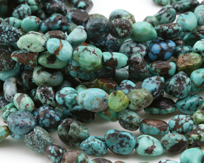 Hubei Turquoise Tumbled Nugget 5-9x5-8mm