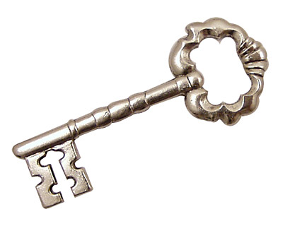 Stampt Antique Pewter (plated) Fancy Skeleton Key 44x18mm