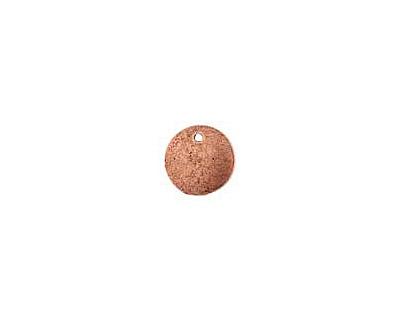 Nunn Design Antique Copper (plated) Flat Mini Circle Tag 13mm