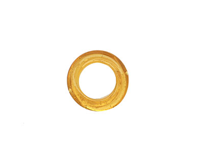 African Recycled Glass Amber Dogun Mini Ring 10-14mm