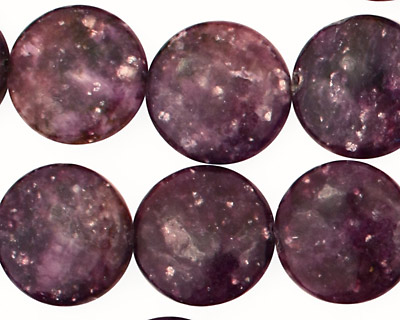 Lepidolite Puff Coin 16mm