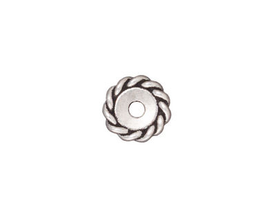 TierraCast Antique Silver (plated) Large Hole Twisted Heishi 2x11mm
