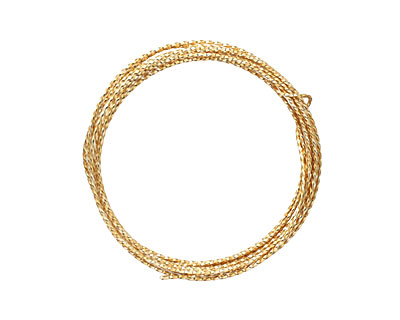 Parawire Non-Tarnish Gold Twisted 18 Gauge, 8 Feet