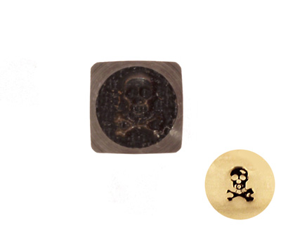 Skull & Cross Bones Metal Stamp 3mm