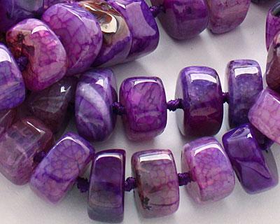 Purple Agate Chunky Graduated Rondelle 8-15x14-24mm