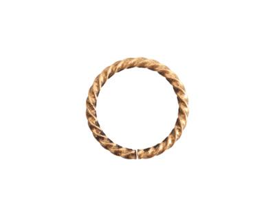 Nunn Design Antique Gold (plated) Grande Rope Jump Ring 17mm
