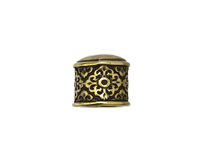 Antique Brass (plated) Celtic 9mm Cord End 11x13mm