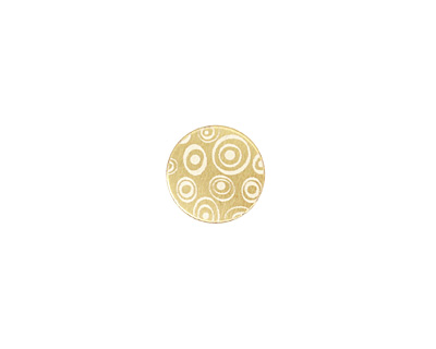 Lillypilly Gold Groovy Circles Anodized Aluminum Disc 11mm, 22 gauge