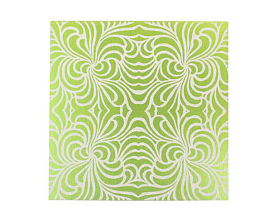 Lillypilly Lime Green Morphed Anodized Aluminum Sheet 3