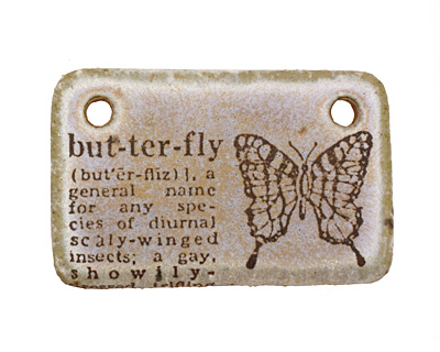 Kylie Parry Ceramic Butterfly Pendant 35x22mm