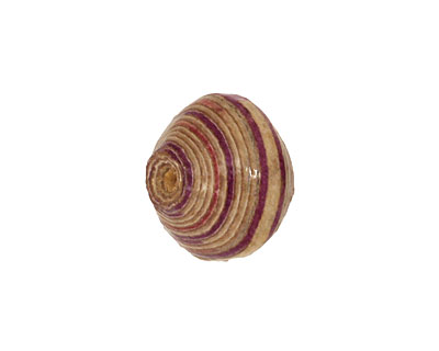 African Paper (ivory, lilac, merlot) Bicone 14-15x16-17mm