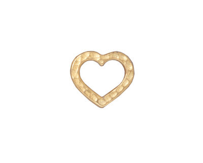 TierraCast Gold (plated) Hammertone Heart Link 14x12mm