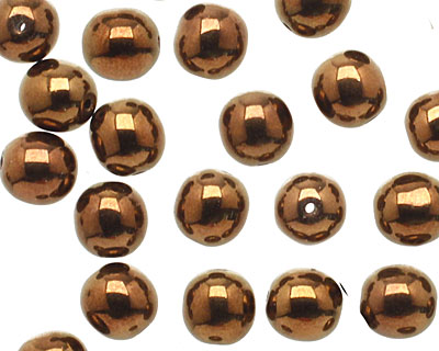 Czech Glass Dark Bronze Round 8mm