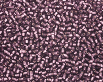 TOHO Medium Amethyst (with Frosted Silver Lining) Round 11/0 Seed Bead