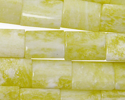 Natural Lemon Jade Thin Pillow 14x10mm