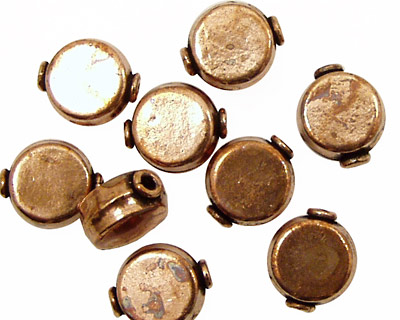 Antique Copper Flat Coin 12x10mm