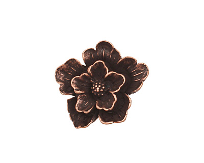 Ezel Findings Antique Copper Flower Link 19x21mm