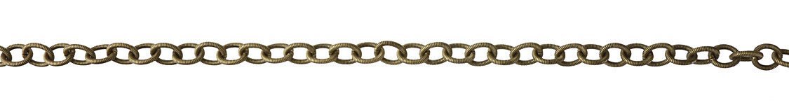 Antique Brass (Plated) Roped Cable Chain