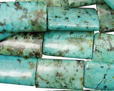African Turquoise Thin Pillow 20x12mm