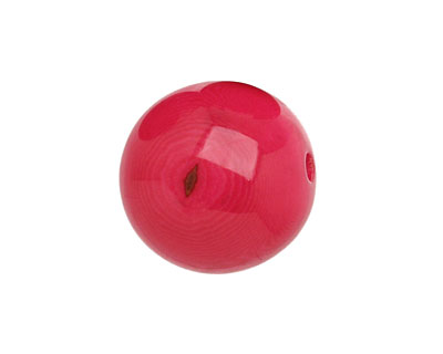 Tagua Nut Hot Pink Round 20mm