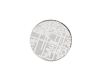 Lillypilly Silver Bamboo Anodized Aluminum Disc 19mm, 22 gauge