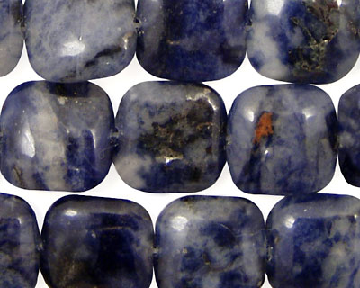 Dumortierite Puff Square 14mm