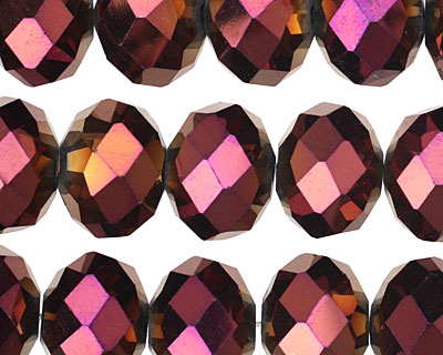 Metallic Gold Raspberry Crystal Faceted Rondelle 14mm