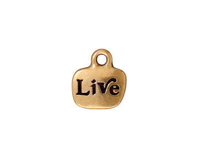 TierraCast Antique Gold (plated) Live Charm w/ Glue In 12x14mm