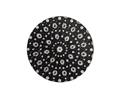 Lillypilly Black Crochet Anodized Aluminum Disc 25mm, 22 gauge
