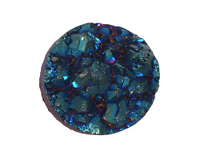 Druzy (metallic blue) Round Cabochon 25mm
