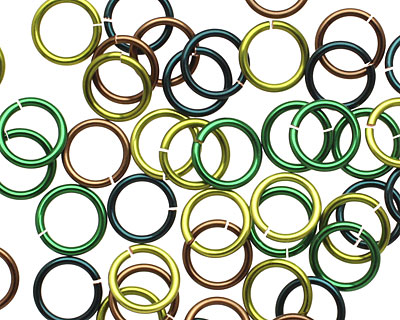 Camo Mix Enameled Copper Round Jump Ring 8mm, 18 gauge