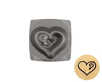 Heart w/ Single Swirl 5mm