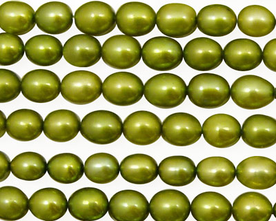 Olive Green Rice 6.5-7mm