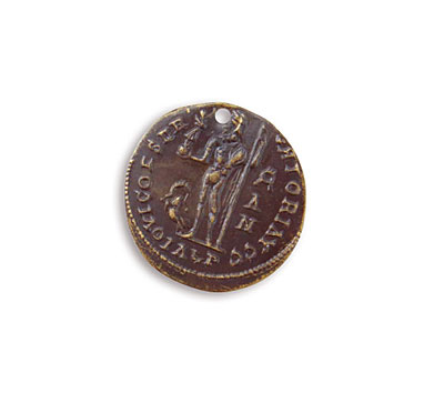 Vintaj Natural Brass Ancient Traveler Coin 19.5mm