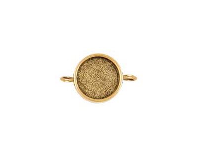 Nunn Design Antique Gold (plated) Small Circle Bezel Link 28x19mm