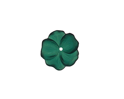 Matte Emerald Lucite Buttercup Flower 4x14mm