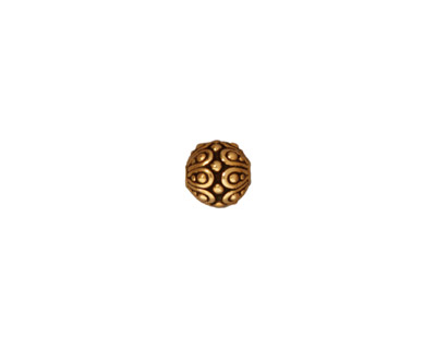 TierraCast Antique Gold (plated) Casbah Round Bead 7mm