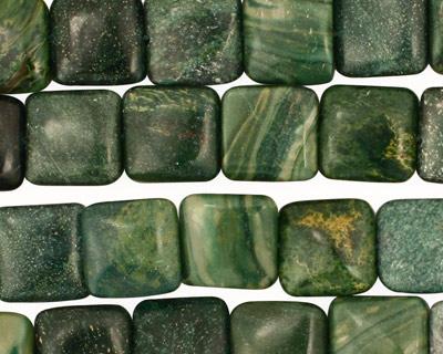 Verdite (dk. green) Puff Square 10mm
