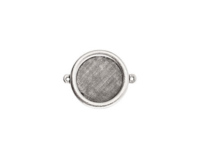 Nunn Design Antique Silver (plated) Framed Small Circle Pendant Link 33x26mm
