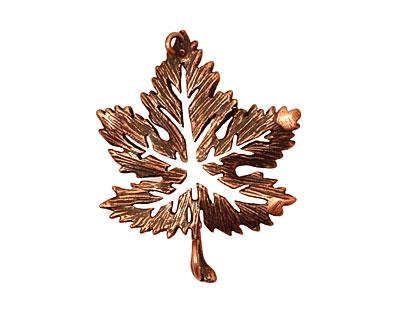Ezel Findings Antique Copper Fancy Maple Leaf Link 28x23mm