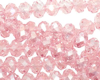 Light Rose AB Crystal Faceted Rondelle 8mm
