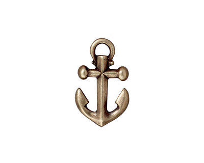 TierraCast Antique Brass (plated) Anchor Charm 12x20mm