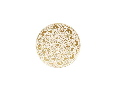 Lillypilly Gold Lace Anodized Aluminum Disc 19mm, 22 gauge