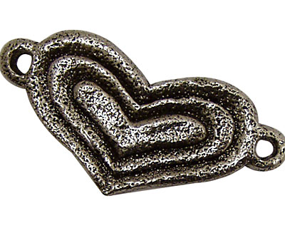 Green Girl Pewter Heart Centerpiece 52x25mm