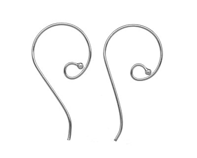 Saki Sterling Silver Round Loop w/ Ball Earwire 21x41mm
